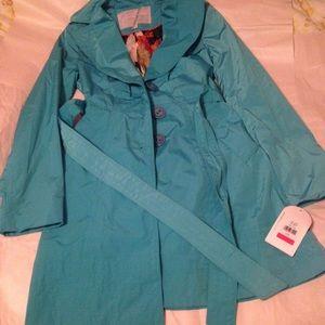 Jessica Simpson Jacket trench coat peacock